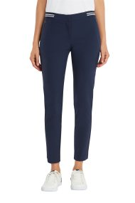 Nautica γυναικείο υφασμάτινο παντελόνι με ριγέ λεπτομέρεια - 93P302 - Μπλε Σκούρο