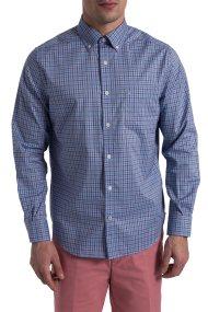 Ανδρικό καρό πουκάμισο Nautica - W81128 - Μπλε