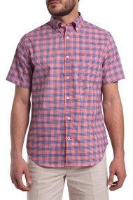 Ανδρικό καρό πουκάμισο με κοντά μανίκια Nautica - W81272 - Κόκκινο