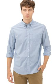 Nautica ανδρικό πουκάμισο Striped Blue - W83117 - Ανοιχτό Γαλάζιο