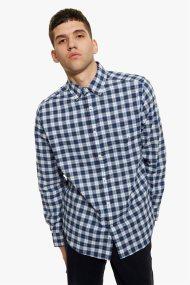 621607b62e48 Νautica ανδρικό καρό πουκάμισο με τσέπη στο στήθος - W83202 - Μπλε Σκούρο