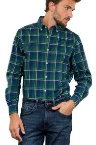 Nautica ανδρικό πουκάμισο καρό Classic fit - W83957 - Πράσινο