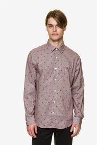 Nautica ανδρικό πουκάμισο με print με μικροσχέδιο - W93322 - Μπορντό