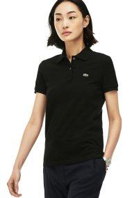 Lacoste γυναικεία μπλούζα polo μονόχρωμη The Lacoste Polo - PF7839 - Μαύρο