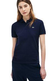 Lacoste γυναικεία μπλούζα polo μονόχρωμη The Lacoste Polo - PF7839 - Μπλε Σκούρο