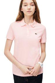 Lacoste γυναικεία μπλούζα polo μονόχρωμη The Lacoste Polo - PF7839 - Ροζ