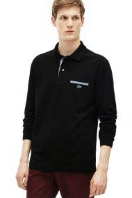 Lacoste ανδρική μπλούζα polo με μακρύ μανίκι - PH0118 - Μαύρο