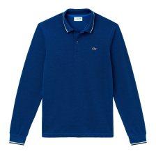 Lacoste ανδρική μπλούζα πόλο μονόχρωμη με ριγέ λεπτομέρειες - PH1963 - Μπλε Ηλεκτρίκ