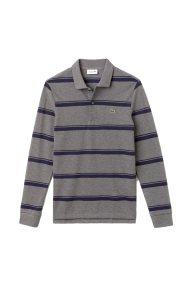 Lacoste ανδρική μπλούζα πόλο με διπλή ρίγα - PH9441 - Γκρι