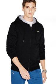 Lacoste ανδρική ζακέτα φούτερ με κουκούλα Tennis Hooded - SH7609 - Μαύρο