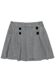Alouette παιδική φούστα pied-de-poule (6-12 ετών) - 00941895 - Γκρι