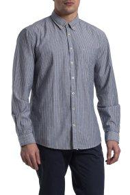 Ανδρικό πουκάμισο ριγέ Dan Camel Active - CD-335100 - Γκρι