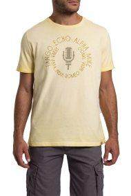 Camel Active ανδρικό T-shirt με letter print και στάμπα - CD-338207 - Κίτρινο