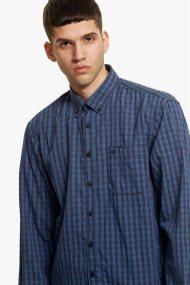 Camel Active ανδρικό καρό πουκάμισο Button down - CD-83-345040 - Μπλε