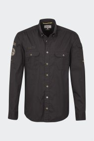 Camel Active ανδρικό πουκάμισο με patches - CD-87-125010 - Μαύρο