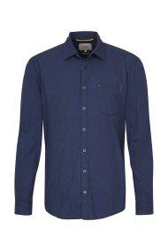 Camel Active ανδρικό πουκάμισο μονόχρωμο με τσέπη - CD-87-125500 - Μπλε Σκούρο