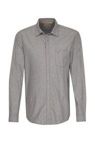 Camel Active ανδρικό πουκάμισο μονόχρωμο με τσέπη - CD-87-125500 - Γκρι