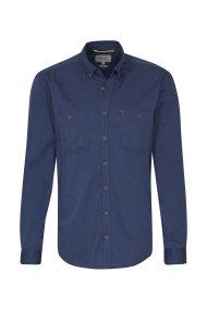 Camel Active ανδρικό πουκάμισο μονόχρωμο με τσέπες - CD-88-226310 - Μπλε Σκούρο