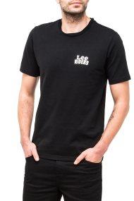 Ανδρικό T-shirt mini lee logo Lee - L62RRE01 - Μαύρο