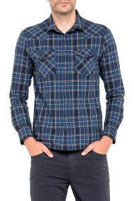 Lee ανδρικό πουκάμισο Lee Western Shirt Night Sky - L643ZASJ - Μπλε