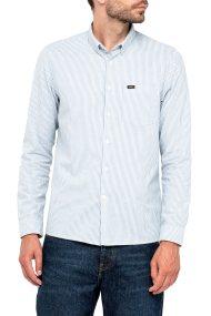 Lee ανδρικό πουκάμισο Slim Button Down Shirt Dusty Blue - L66XZQKH - Γαλάζιο