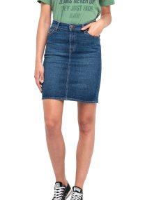 Lee γυναικεία denim φούστα High Waist Skirt True Blue - L38QROPB - Μπλε