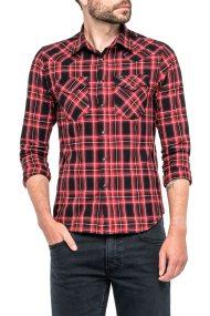 Lee ανδρικό πουκάμισο Lee Western Shirt Warp Red - L643ZAKG - Κόκκινο