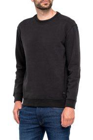 Lee ανδρικό φούτερ Crew Sweatshirt Pitch Black - L80ZUBEM - Μαύρο