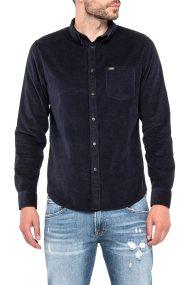 Lee γυναικείο πουκάμισο Lee Button Down Shirt Midnight Blue - L880MRDB - Μπλε Σκούρο