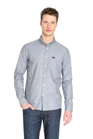 Lee ανδρικό πουκάμισο Slim fit με Button Down γιακά - L66XNF01 - Γκρι