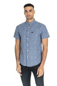 Lee ανδρικό κοντομάνικο πουκάμισο με print - L886WALA - Μπλε