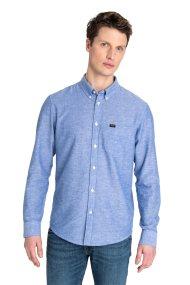 Lee ανδρικό πουκάμισο Button Down Heather Blue - L880NDLI - Γαλάζιο