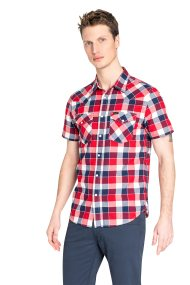 Lee ανδρικό κοντομάνικο πουκάμισο καρό Western - L640NMEF - Κόκκινο