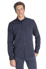 Lee ανδρικό πουκάμισο με μία τσέπη Slim fit - L880NBMA - Μπλε Σκούρο