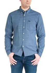 Lee ανδρικό πουκάμισο ριγέ Slim fit με μία τσέπη - L66XOHMA - Μπλε Σκούρο