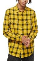 Lee ανδρικό καρό πουκάμισο με flap τσέπες Rider - L856OEMM - Κίτρινο image