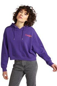 Γυναικεία μπλούζα Crop Hoodie Wrangler - W6068IGW3 - Μοβ