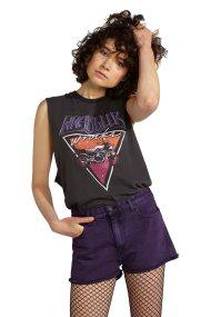 Γυναικεία αμάνικη μπλούζα Biker Tank Wrangler - W7381GFV6 - Μαύρο