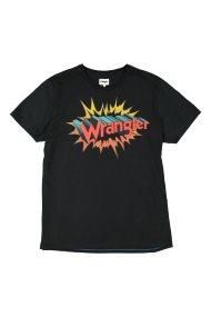 Wrangler ανδρικό T-shirt Graphic Hero Tee με graphic πολύχρωμο λογότυπο - W7B78FKOJ - Μαύρο