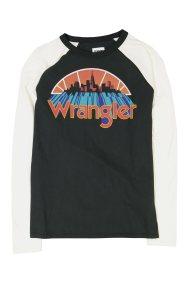 Wrangler ανδρική μπλούζα Raglan Graphic Tee - W7B80FKOJ - Μαύρο
