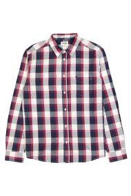Wrangler ανδρικό πουκάμισο Long Sleeve One Pocket Shirt - W57604M47 - Κόκκινο