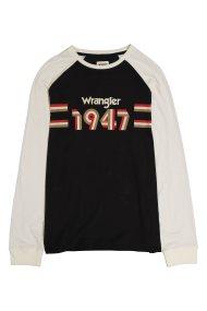 Wrangler ανδρική μπλούζα Longsleeve 1947 Tee - W7B82GOV6 - Ανθρακί