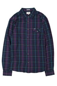 Wrangler ανδρικό πουκάμισο Long Sleeve One Pocket Flap Shirt Purple Pennant - W5932T9WT - Μοβ