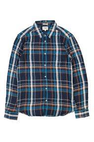 Wrangler ανδρικό πουκάμισο Long Sleeve One Pocket Shirt Navy - W5953T835 - Μπλε