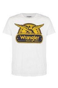Wranglerανδρικό T-shirt Short Sleeve Eagle TeeOffwhite - W7B74FK02 - Υπόλευκο