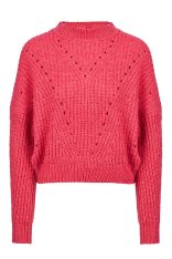 77b0709ef9b4 Wrangler γυναικείο πουλόβερ Crop Knit Bright Rose - W8111PKVC - Κοραλί