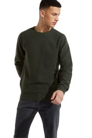 Wrangler ανδρικό πουλόβερStructural Knit Rosin Green - W8627P1WY - Λαδί