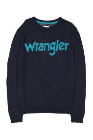 Wrangler ανδρικό πουλόβερ W CrewKnit Dark Navy - W8640P3AE - Μπλε Σκούρο