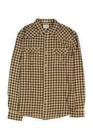 Wrangler ανδρικό πουκάμισο Western Milky Coffee - W5973SZVN - Μπεζ