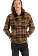 Wrangler ανδρικό καρό jacket Wool Trucker - W4700XSVQ - Κεραμιδί image